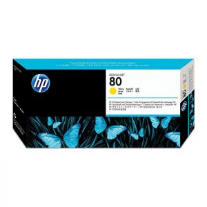 HP 80 Yellow Original Printhead and Printhead Cleaner (C4823A)
