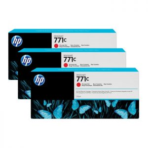 HP 771C Chromatic Red Original Ink (B6Y32A) 3 Pack