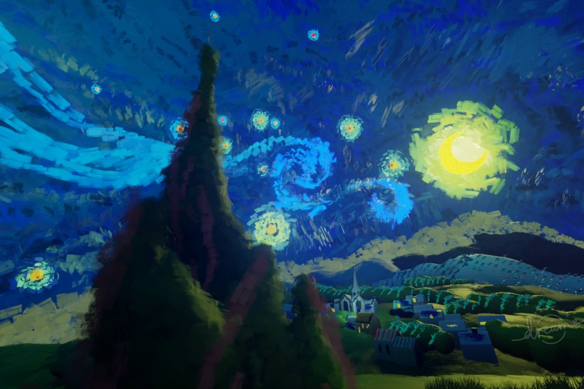 starry night 100839650 large.3x2 - I wish the PC had game creation tools as intuitive as PlayStation 4's Dreams