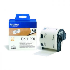 Brother DK-11209 Original 29mm x 62mm Black on White P-Touch Labels x800