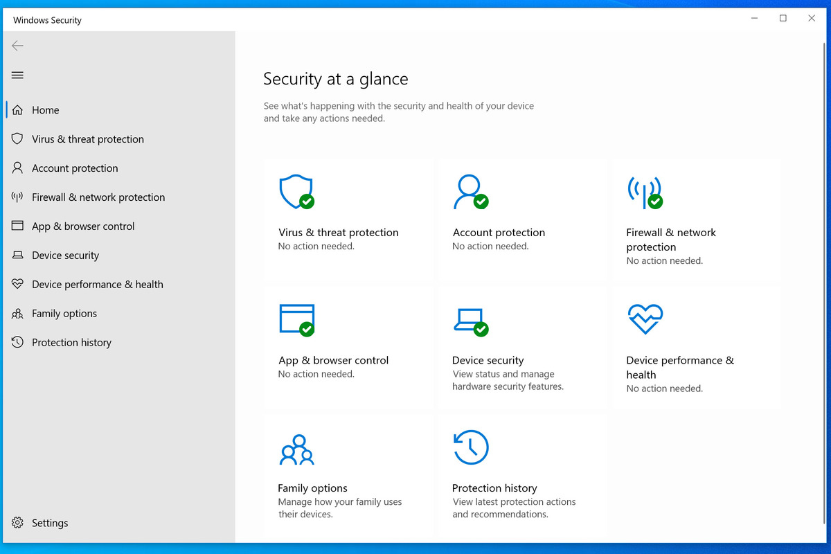 windows security dashboard 100872499 large.3x2 - Windows Security in Windows 10: Everything you need to know