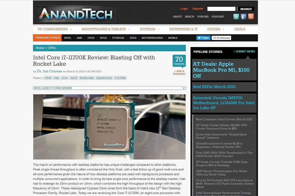 rocketlake anand review 100879790 large.3x2 - An early review of Intel 11th-gen Rocket Lake gives the chip mixed marks