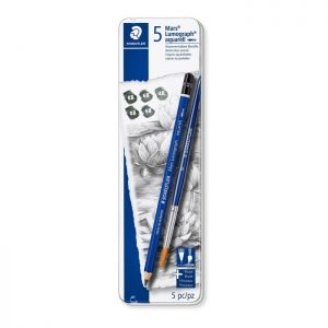 Staedtler Case Containing Graphite Pencils in Assorted Degrees and 1 Brush 5 Pack