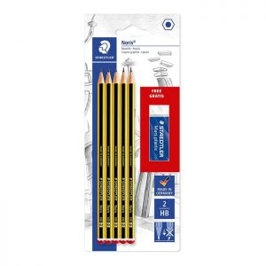 Staedtler Blister Card Containing 5 Graphite Pencils HB and 1 Eraser