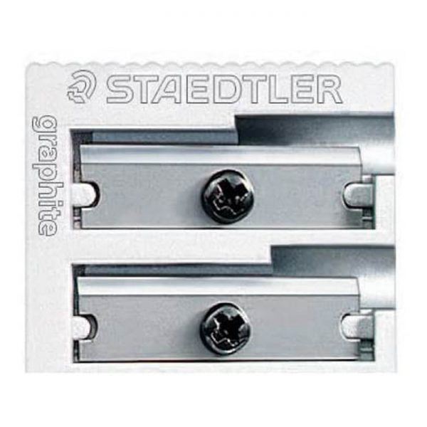 Staedtler Metal Sharpener, Double Hole for Pencils and Colored Pencils (510 20)