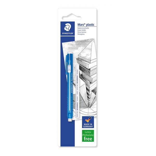 Staedtler Blistercard Containing 1 Eraser Holder and 1 Core Refill