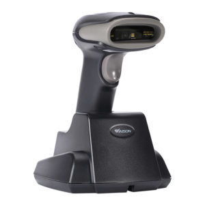 Winson WNI-6213B/V 2D Wireless Barcode Scanner with Charge RF433 Base